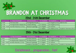 New classes for Christmas! Join us online to learn and have fun